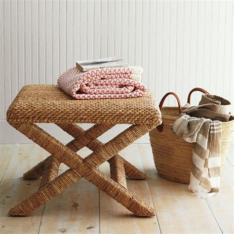 seagrass bench pottery barn seagrass look 4 less and steals and deals