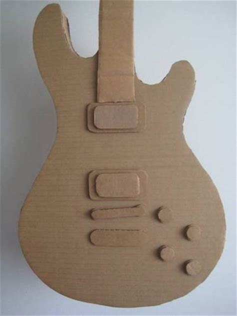 Make A Paper Guitar - the sheen cardtail cardboard guitar many photos