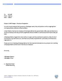 Resignation Letter Promotion Hr Administration Workipedia