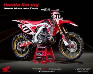 Honda Mx Racing Caf 232 Honda Crf 450r World Motocross Team 2013