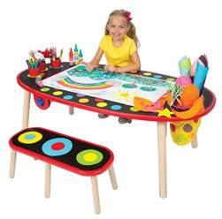 kids art table amazon com alex toys artist studio super art table with