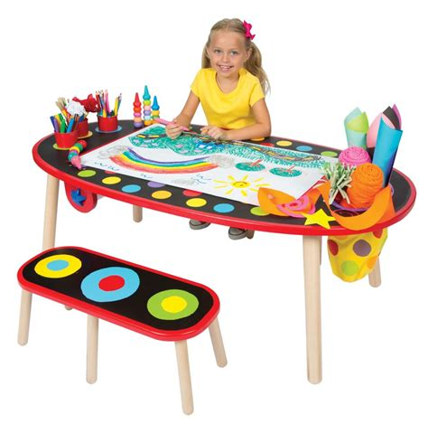 kids art table amazon com alex toys artist studio super art table with