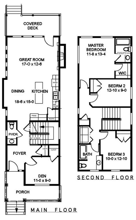 narrow townhouse floor plans plan no 505161 house plans by westhomeplanners com