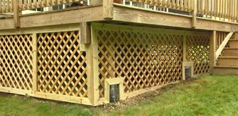 Lattice Around Shed by How To Trim Lattice Around A Deck Foundation Today S Homeowner