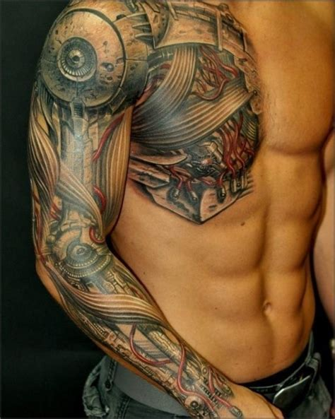 Tattoo 3d Biomechanical | sleeve tattoos 3d biomechanical sleeve tattoos gallery