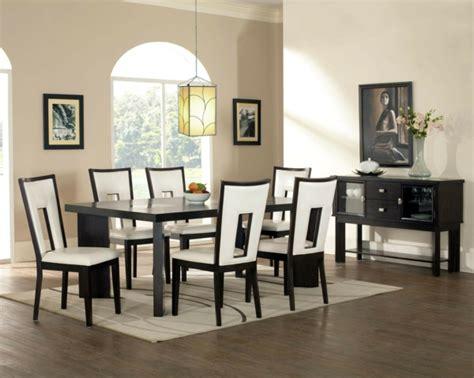 moderne schwarze speisesaal sets glastisch esszimmer idee