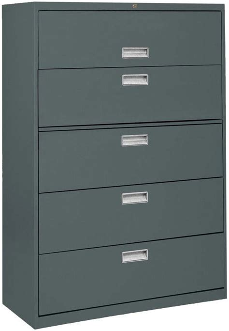Lateral File Cabinet 5 Drawer Sandusky Lateral File Cabinet 5 Drawer 36 Quot W Lf6a365 00 File Cabinets Worthington Direct