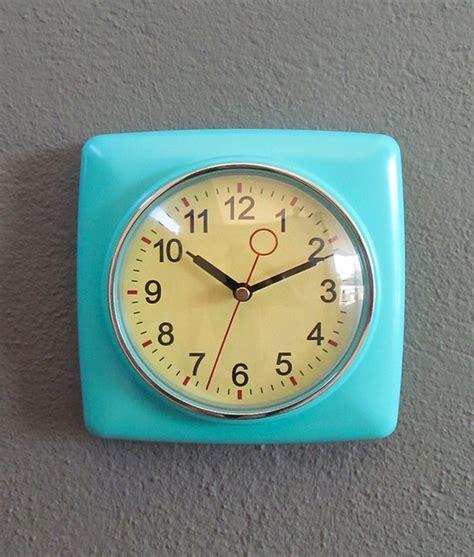 retro modern wall clock retro wall clock mint contemporary clocks by redinfred