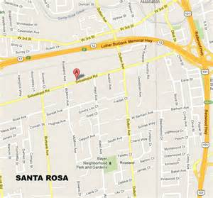 where is santa rosa california on the map of california bay area immigration directions