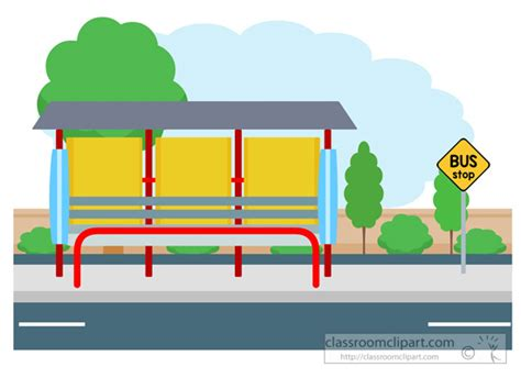 Bus Stop Clipart Many Interesting Cliparts Station Coloring Page