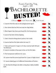 Bachelorette busted unique printable bachelorette party game