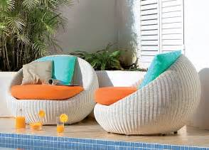 outdoor furniture in contemporary garden trend home