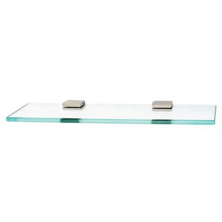 satin nickel glass shelf 18 quot knobs n knockers