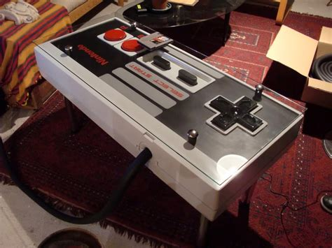 nintendo nes controller coffee table integrated nes