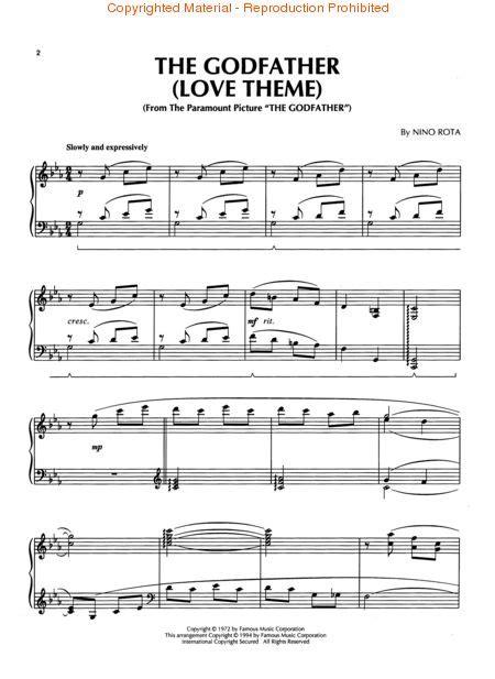 godfather themes the godfather love theme sheet music by nino rota sku