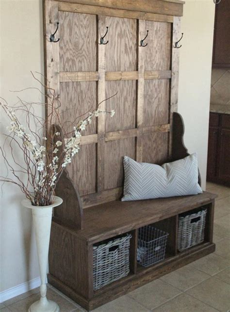 hallway bench coat rack 10 organized hallways with beautiful coat rack bench rilane
