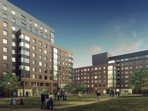 towson housing tu breaks ground for two new west village residence halls news