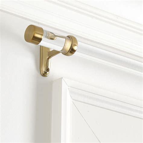 clear shower curtain rod acrylic shower curtain rod ballard designs 119