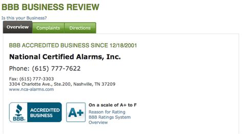national certified alarms inc reviews real customer