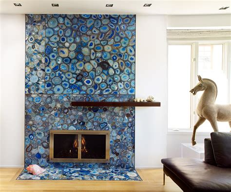 Home Decorators Collection St Louis blue agate fireplace contemporary living room by