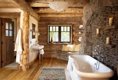 Log Cabin Bathroom by 8 Amazing Log Cabin Interiors That Will Make You Awestruck