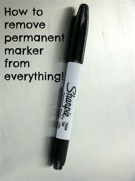 how to remove permanent marker from everything budget