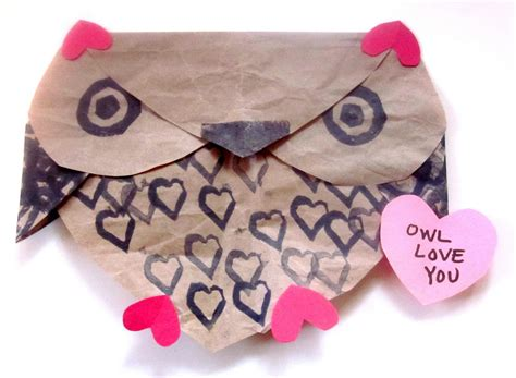 owl valentines s muse quot owl you quot owl craft