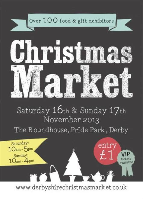 leaflet design derby derbyshire christmas market 16th 17th november the