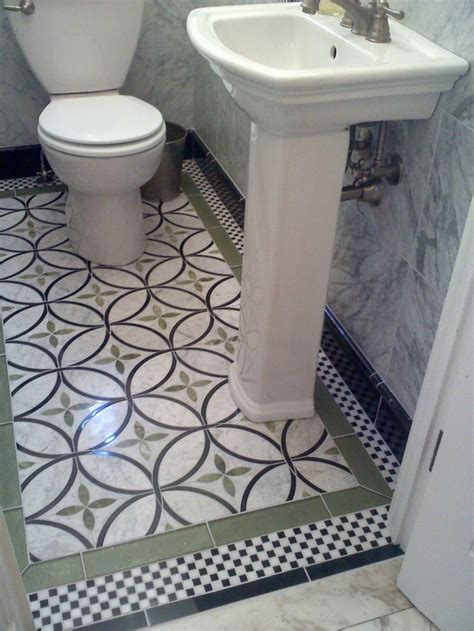 powder room floor tile ideas great floor tile in small powder room for the home
