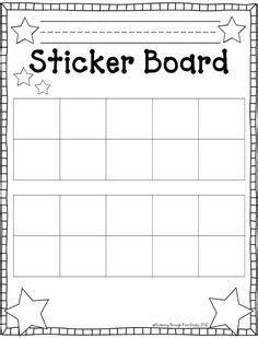 Sticker Book Template by Best 25 Behavior Sticker Chart Ideas On
