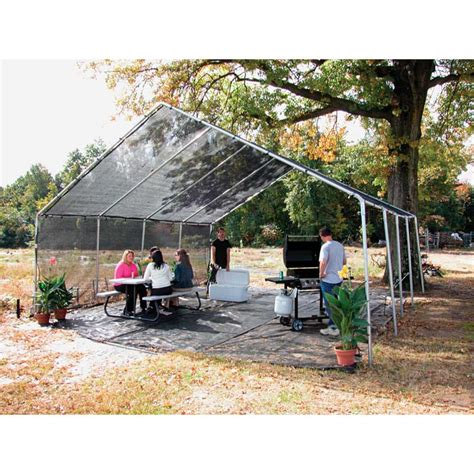 l shade frame supplies commercial sunblocker shade house 20 w x 30 l 40