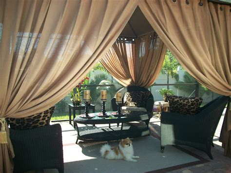 outdoor gazebo patio drapes toffee quot sheer quot 84