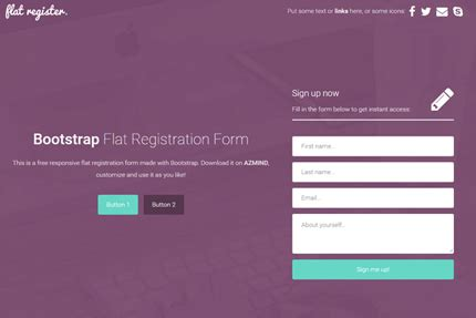 Bootstrap Flat Registration Forms 3 Free Templates Azmind Bootstrap Templates For Registration Form
