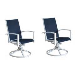 Aluminum Swivel Patio Chairs by Shop Allen Roth Park 2 Count White Aluminum Swivel