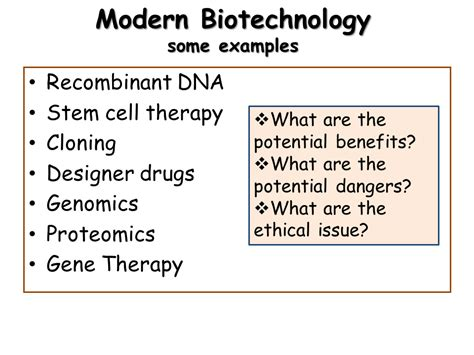 modern biotechnology some exles sliderbase