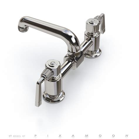 Water Works Faucets by Waterworks Rw Atlas Faucet With Lever Handles 3d Model Max