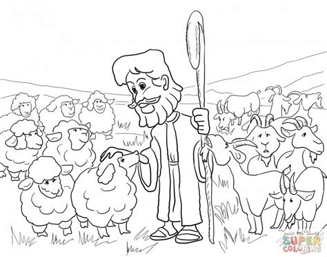 parable of the lost sheep coloring page az coloring pages