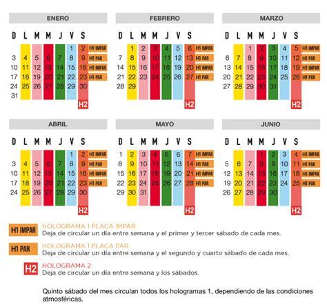 calendario doble no circula por contingencia calendario hoy no circula la carpa