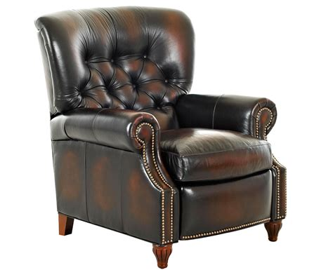 tufted leather recliner chair brinkley tufted leather recliner leather recliners