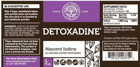 Detox Side Effects Of Iodine detoxadine iodine 163 29 99 from the finchley clinic