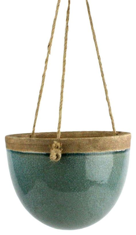 indoor hanging planters peony hanging planter in teal small traditional indoor pots and planters by dot bo