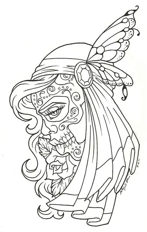 coloring pages for adults skulls day of the dead children day of the dead coloring page