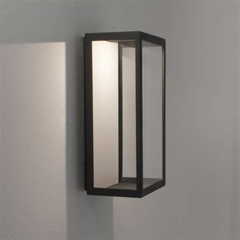 Puzzle Led Outdoor Wall Light In Black With Clear Glass Lights Uk Outdoor
