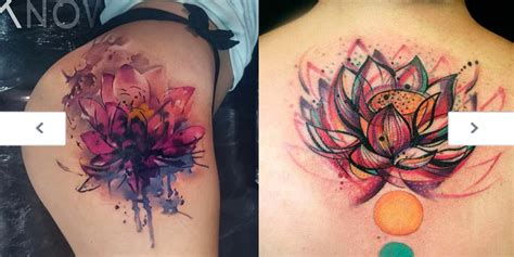 unique flower tattoos tattoos unique watercolor flower ideas
