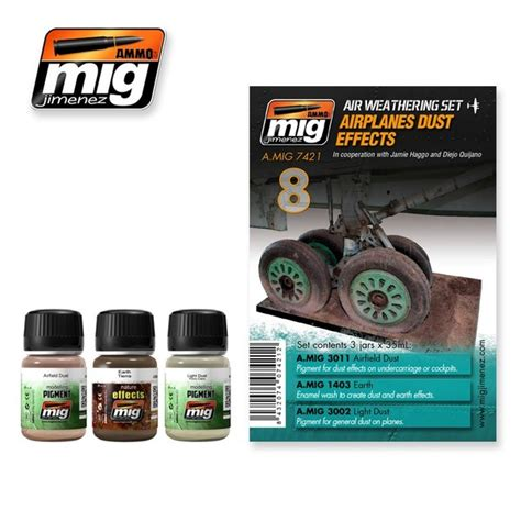 Amig 3011 Airfield Dust airplanes dust effects set ammo of mig jimenez 7421