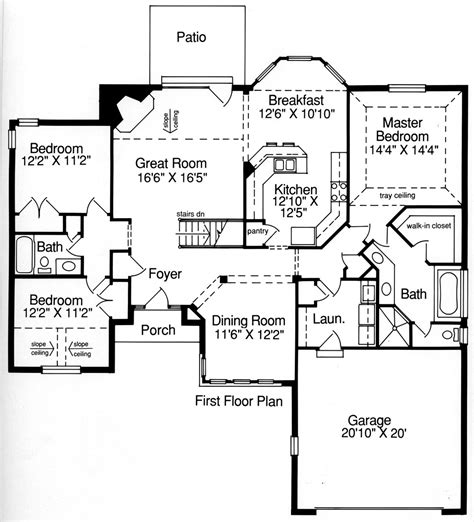 residential home floor plans ranch house plan with 3 bedrooms and 2 5 baths plan 9084