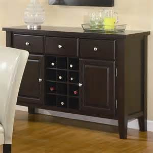 Dining Room Servers Furniture Coaster Buffet Style Server In Brown Wood Finish 102265