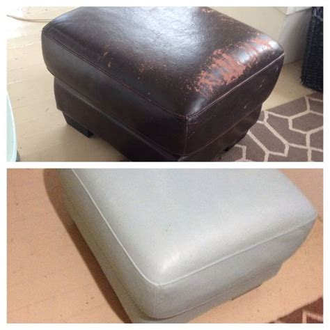 Faux Leather Sofa Peeling by Sloan Chalk Paint On A Peeling Faux Leather Ottoman