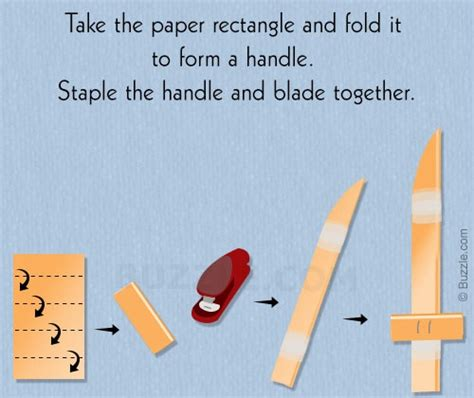 extremely easy steps that can be used to make a paper knife