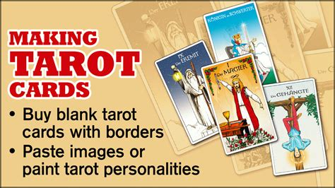 make and print your own cards simple diy on how to make your own tarot cards